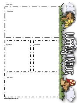 Newsletter Templates - Porcupine Pleasures Themed