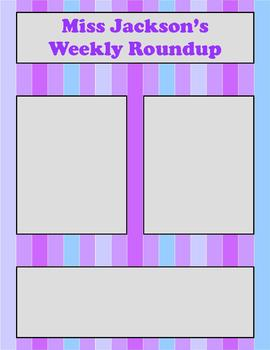 Newsletter Templates - Set of 4 - Simple Stripes