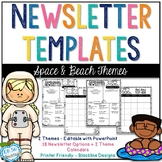 Newsletter Templates - Space & Beach Themes