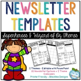 Newsletter Templates - Superheroes & Wizard of Oz Themes