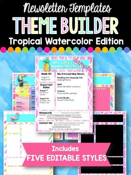 Newsletter Templates: Tropical Watercolor Edition