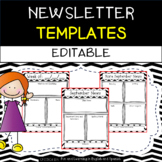 Classroom Newsletters - Editable {Weekly & Monthly Templates}