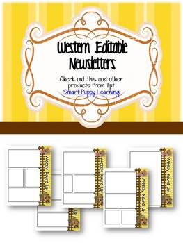 Newsletter Templates- Weekly Round-Up/Western Themed