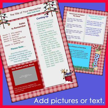 And Holiday Newsletter Templates  Party  Set Of  Templates