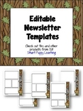 Newsletter Templates- Woodland Animals Themed