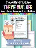 Newsletter Templates: Woodland Wonderland Edition