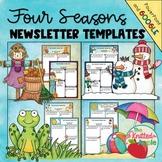 Four Seasons Newsletter Templates