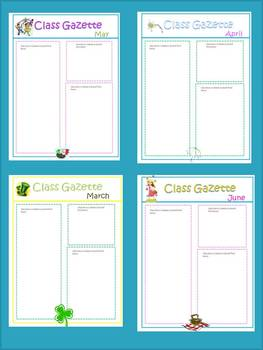 Newsletter Templates by Monthly Themes