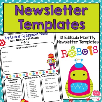 Newsletter Templates (editable)- Robot Theme- 12 Different Templates