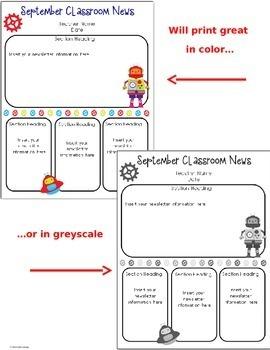 Newsletter Templates (editable)- Robot Theme- 12 Different Templates