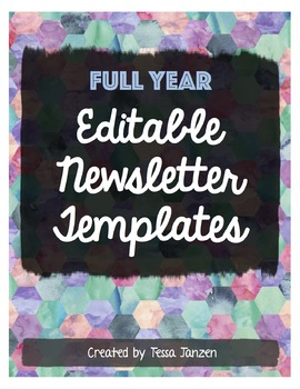 Newsletter Templates for the School Year EDITABLE