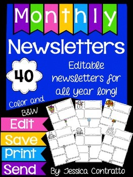 Newsletter Templates for the Whole Year