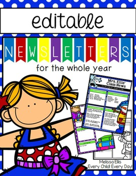 Newsletter Templates for the Whole Year - EDITABLE