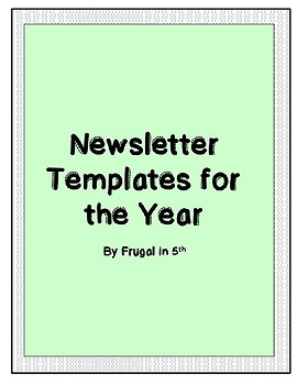Newsletter Templates for the Year