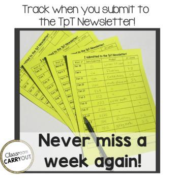 TpT Newsletter 10 Free Downloads Tracking Checklist