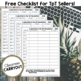 TpT Newsletter 10 Free Downloads Marketing Checklist