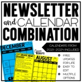 Newsletter and Calendar Combo {2019-2021)