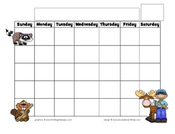 Newsletter and Calendar Templates~ Woodland