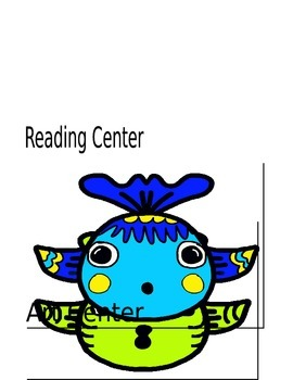 Newsletter and Center Names Fish Theme
