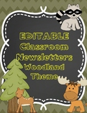Newsletter and Class List Woodland Animal Theme *All Editable
