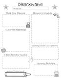 Newsletter and Homework Templates