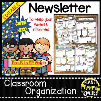 Newsletter (editable) ~ Super Hero Theme