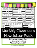 Parent Teacher Newsletter {Weekly or Monthly}