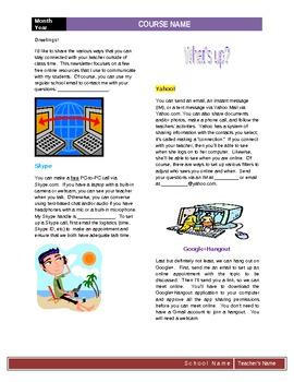 Newsletter for Online Teaching