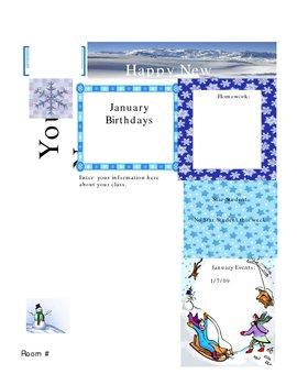 Newsletter for January