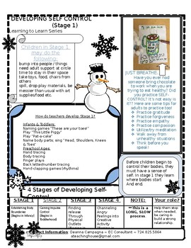 Newsletter for Teachers on Developing Self Control