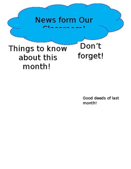Newsletter outline