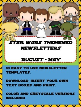 newsletter templates star wars by fun in 1st and 2nd tpt