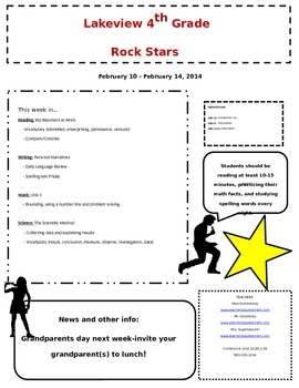Newsletter with Rock Star sillhouettes