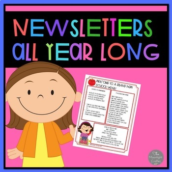 Newsletters All Year Long EDITABLE BUNDLE