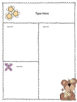 Newsletters Bear theme - Editable