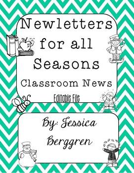 Newsletters For All Seasons {Editable}
