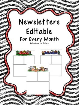 Newsletters For Every Month - In color and black and white