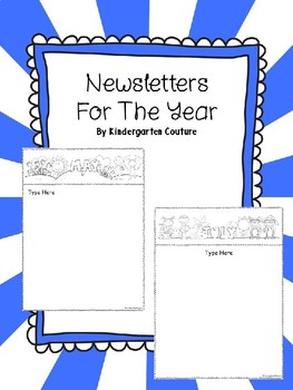 Newsletters For The Year -Editable