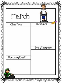 Newsletters/ Kids with disabilities themed
