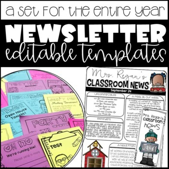 Newsletter Templates Editable: Weekly Newsletter, Monthly Brochure, & Reminders