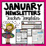 January and New Year Newsletter Templates 2018 ~ Editable