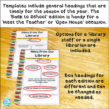 Newsletters for the School Library: EDITABLE