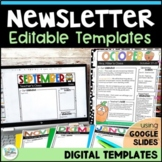 Newsletters for the Year! - Seasonal Themed Newsletter Templates