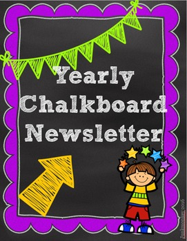 Newsletters for the Year - Chalkboard Theme