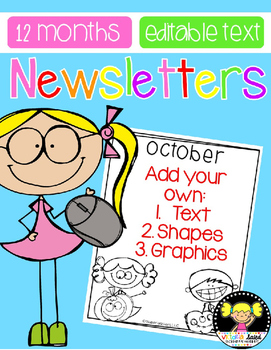 Newsletters for the Year {Editable}