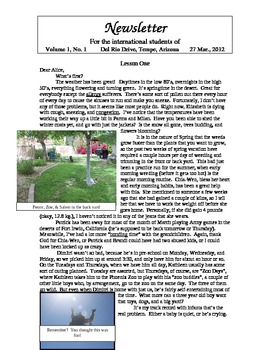 Newsletters - sample