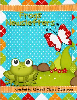 Newsletters~Frog Theme~Year Long
