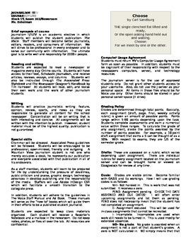 Newsmagzine syllabus