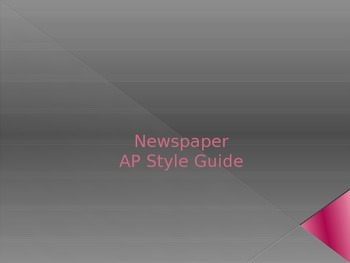 Newspaper AP Style Guide Powerpoint