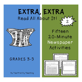 Newspaper Activities 2 - 15 Weeks